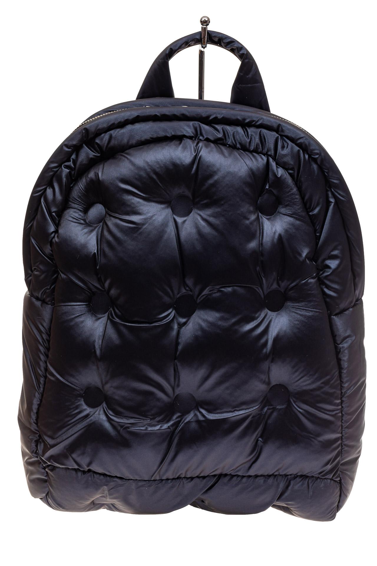 На фото 2 - Дутый рюкзак из болоньевой ткани, цвет темно-синий