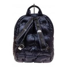 На фото 3 - Дутый рюкзак из болоньевой ткани, цвет темно-синий