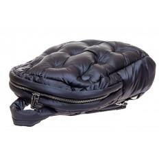 На фото 4 - Дутый рюкзак из болоньевой ткани, цвет темно-синий
