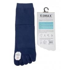 На фото 1 - Пятипальцевые мужские носки, цвет тёмно-синий