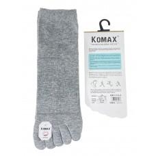 На фото 1 - Пятипальцевые мужские носки, цвет серый