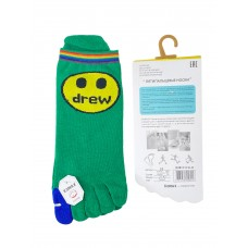 На фото 1 - Женские носки с пальцами, принт