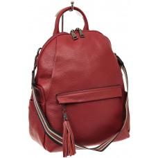 На фото 1 - Рюкзак из натуральной кожи с потайным карма...
