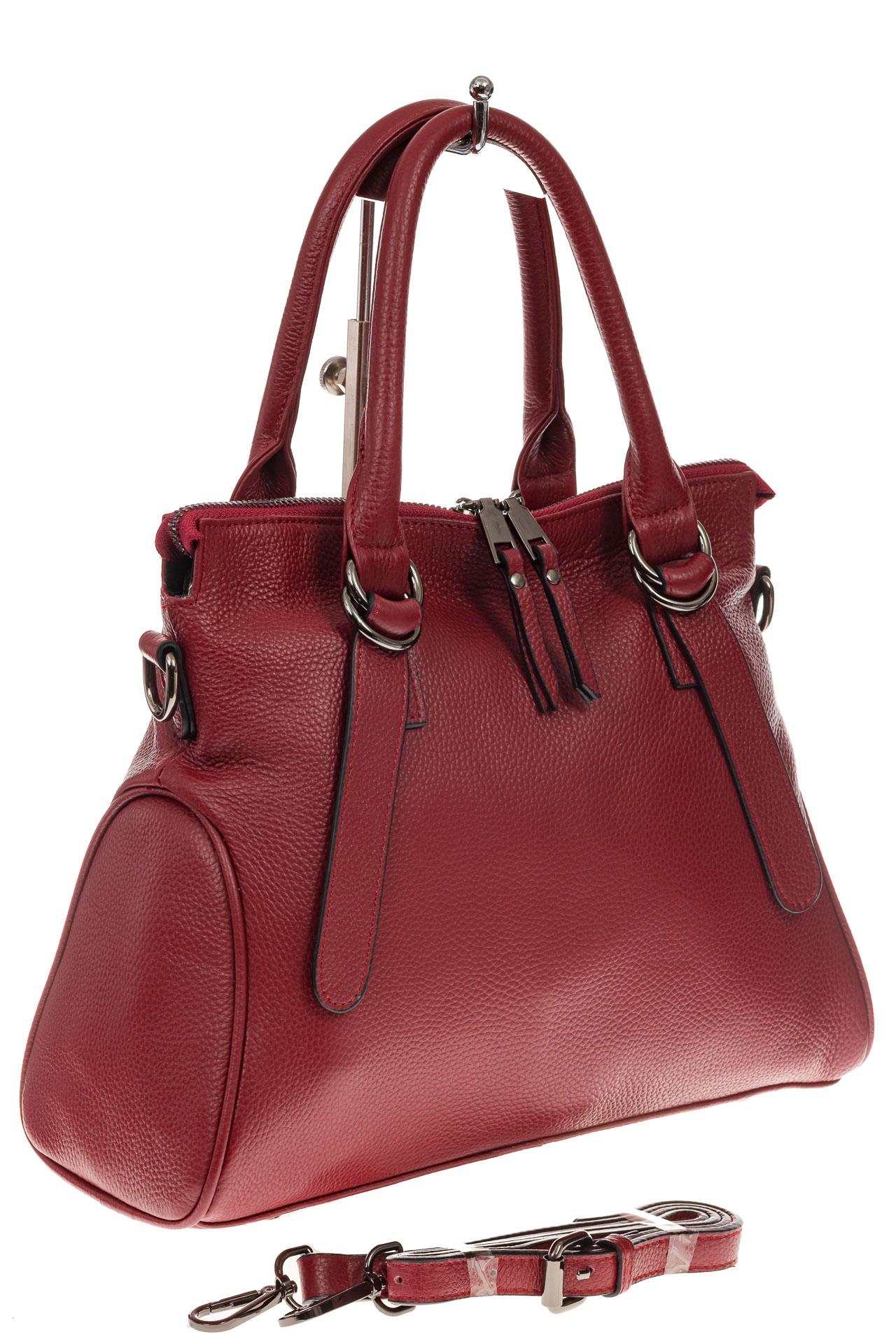 fe4048c1ee63 Женская сумка из натуральной кожи, цвет бордовый, арт. 6-559KN11/4 ...