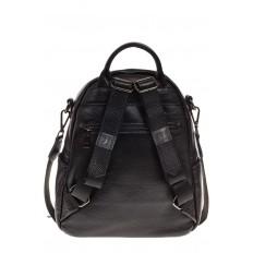 На фото 3 - Женский рюкзак из натуральной зернистой кожи, черный цвет