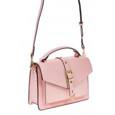 на фото Shoulder bag из искусственной кожи розового цвета 60020MJ5