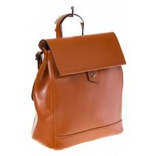 Купить оптом дамский рюкзачок из натуральной кожи, цвет коньячный, фото