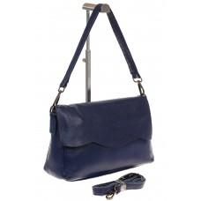 на фото Синяя сумка-багет из натуральной кожи 6003MK5