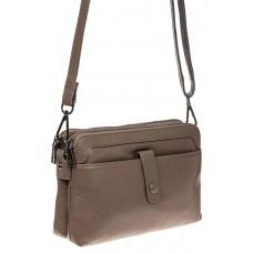На фото 1 - Женская сумка из натуральной кожи, цвет сер...