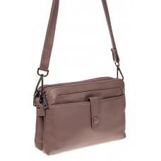 На фото 1 - Женская сумка из натуральной кожи, цвет сир...