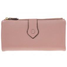 На фото 1 - Розовое портмоне под купюры и 18 карт из на...