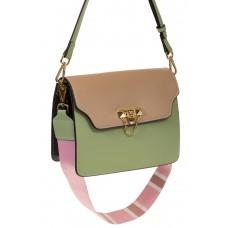 на фото Зеленый shoulder bag из искусственной кожи 60061MJ5