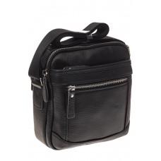 На фото 1 - Маленькая квадратная мужская сумка из натуральной кожи
