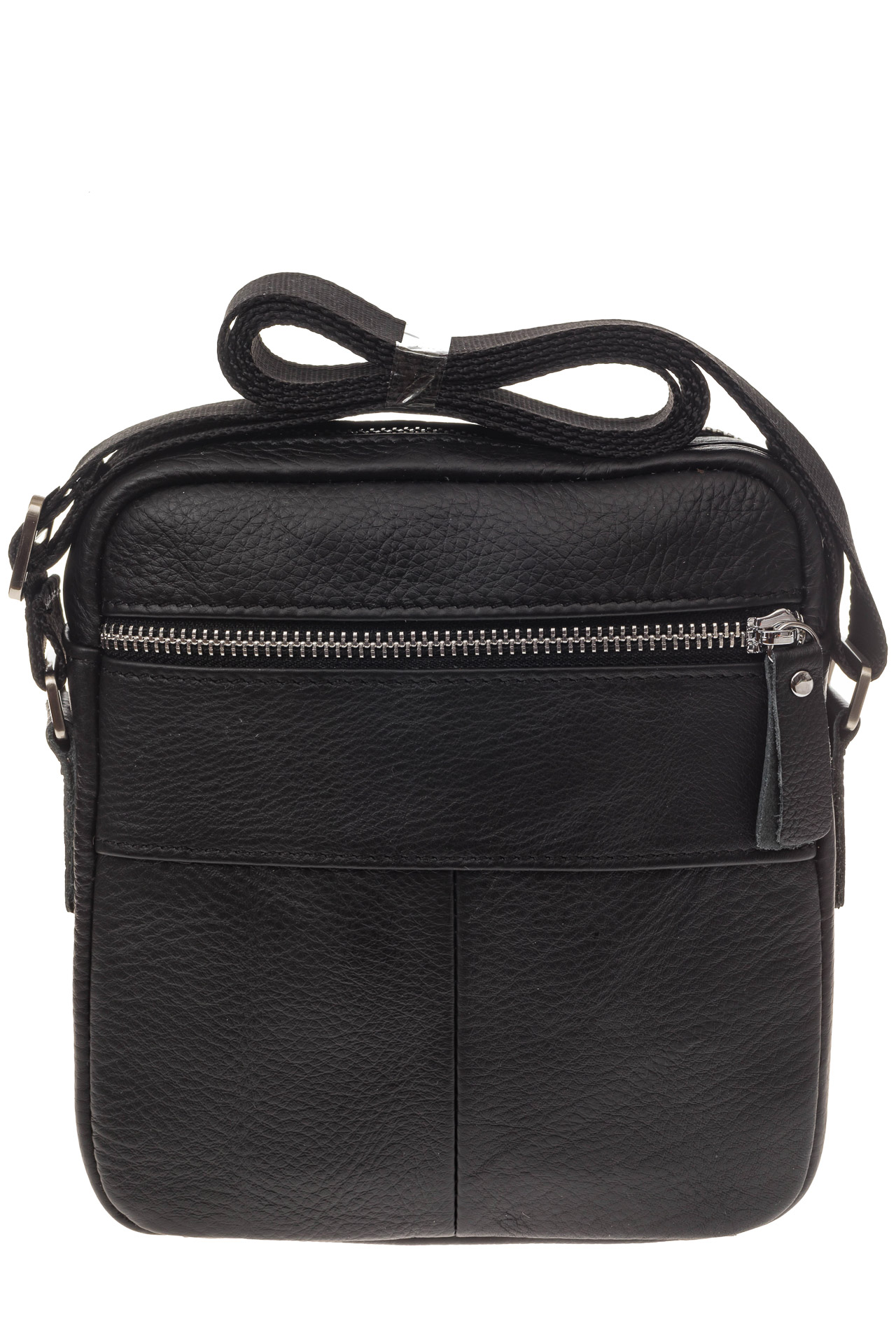 На фото 3 - Маленькая квадратная мужская сумка из натуральной кожи