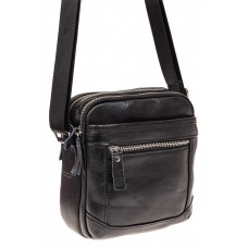 На фото 1 - Мужская сумка через плечо, натуральная кожа...