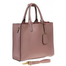 На фото 1 - Женская сумка-шопер цвета фуксия 6009MK5