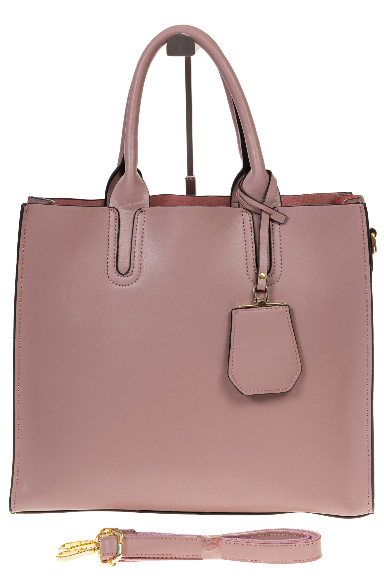На фото 2 - Женская сумка-шопер цвета фуксия 6009MK5