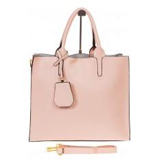 На фото 2 - Женская сумка-шопер розового цвета 6009MK5