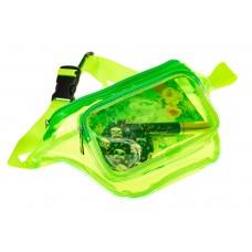 На фото 1 - Поясная прозрачная сумка из винила, цвет зе...