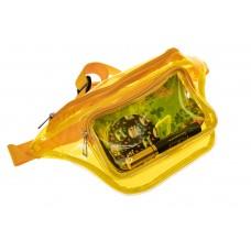На фото 1 - Поясная прозрачная сумка из винила, цвет же...
