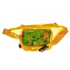 На фото 2 - Поясная прозрачная сумка из винила, цвет желтый