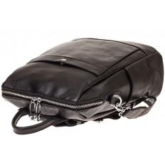 На фото 3 - Строгий женский рюкзак из искусственной кожи, цвет черный