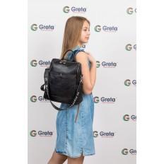 На фото 4 - Строгий женский рюкзак из искусственной кожи, цвет черный