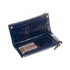 На фото 2 - Синее портмоне под мрамор 6012