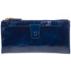 На фото 1 - Синее портмоне под мрамор 6012