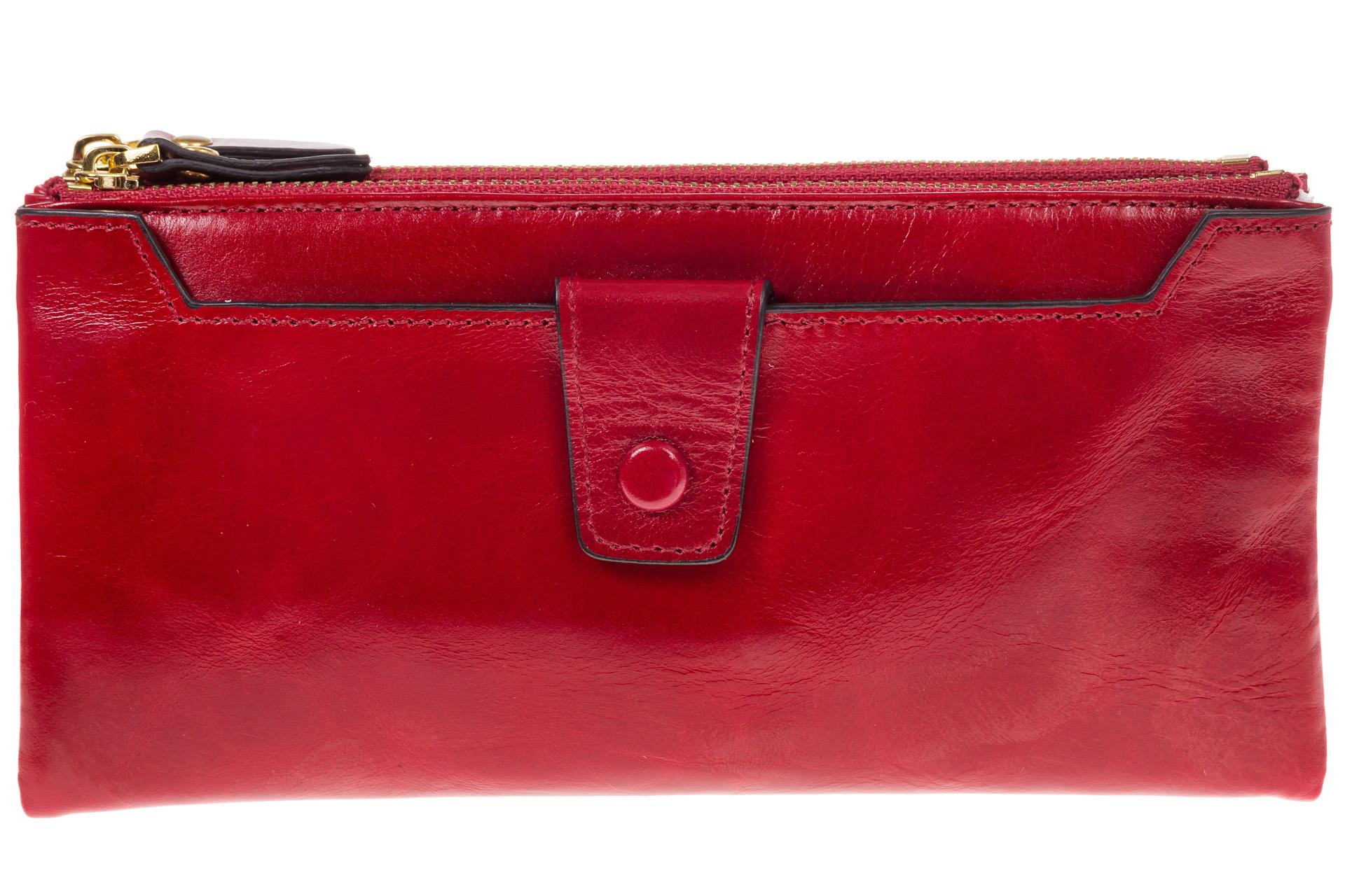 На фото 1 - Красное портмоне под мрамор 6012