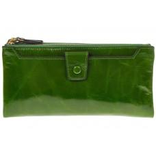 На фото 1 - Зеленое портмоне под мрамор 6012