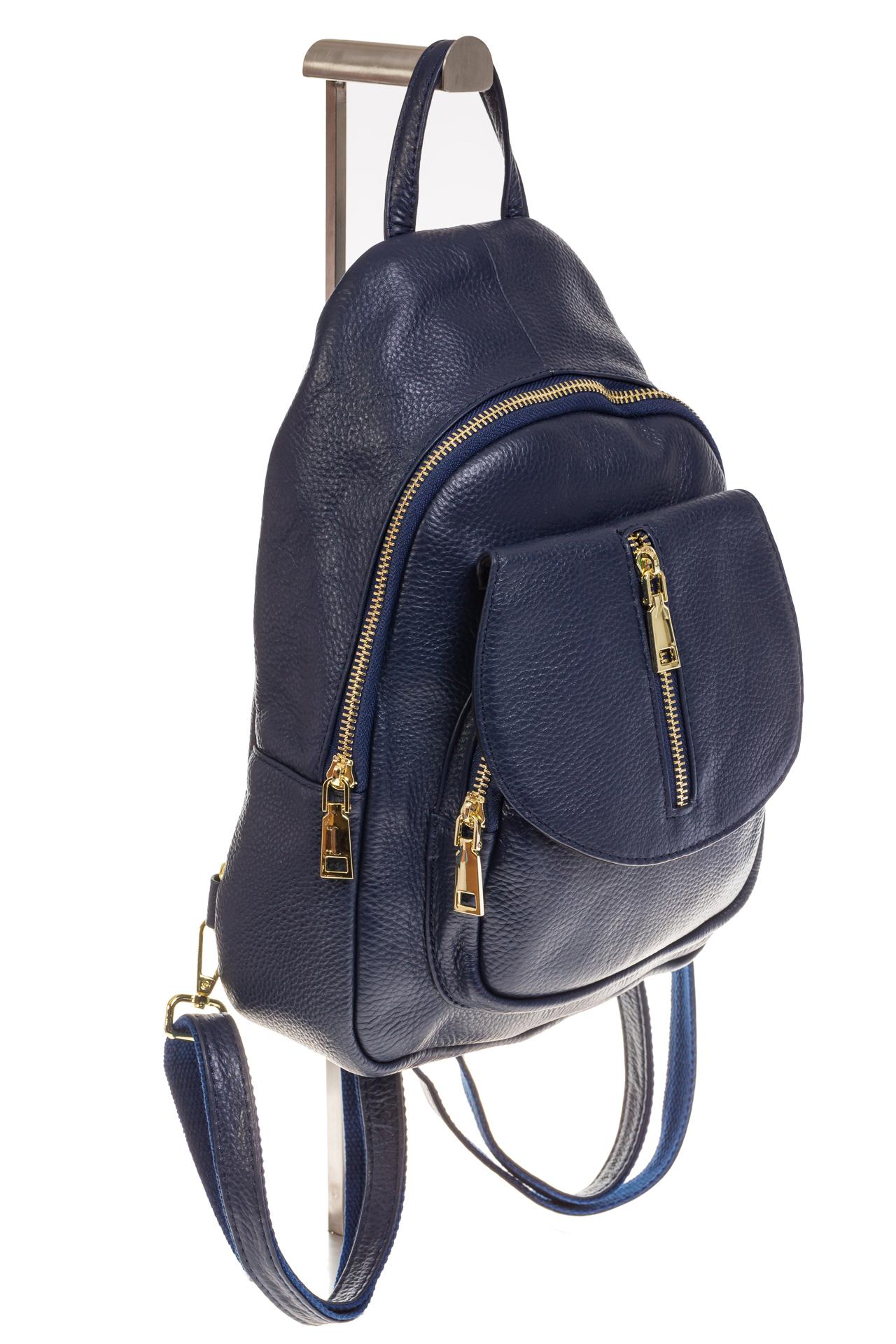 2ca3a85525dc Синий городской рюкзак из кожи для женщин 6016, арт. 6016NKA/2 ...
