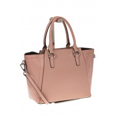 на фото Строгая сумка из натуральной кожи, цвет пудра 6017MK5