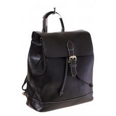 Купить оптом Рюкзак-торба из натуральной кожи, цвет черный, фото