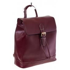 Купить оптом Рюкзак-торба из натуральной кожи, цвет бордовый, фото