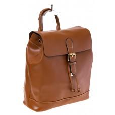Купить оптом Рюкзак-торба из натуральной кожи, цвет коньячный, фото