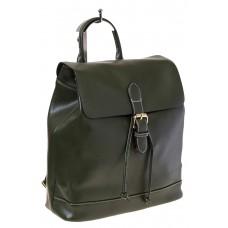 Купить оптом Рюкзак-торба из натуральной кожи, цвет зеленый, фото