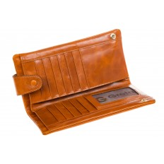 На фото 2 - Вертикальное портмоне оранжевого цвета 6018