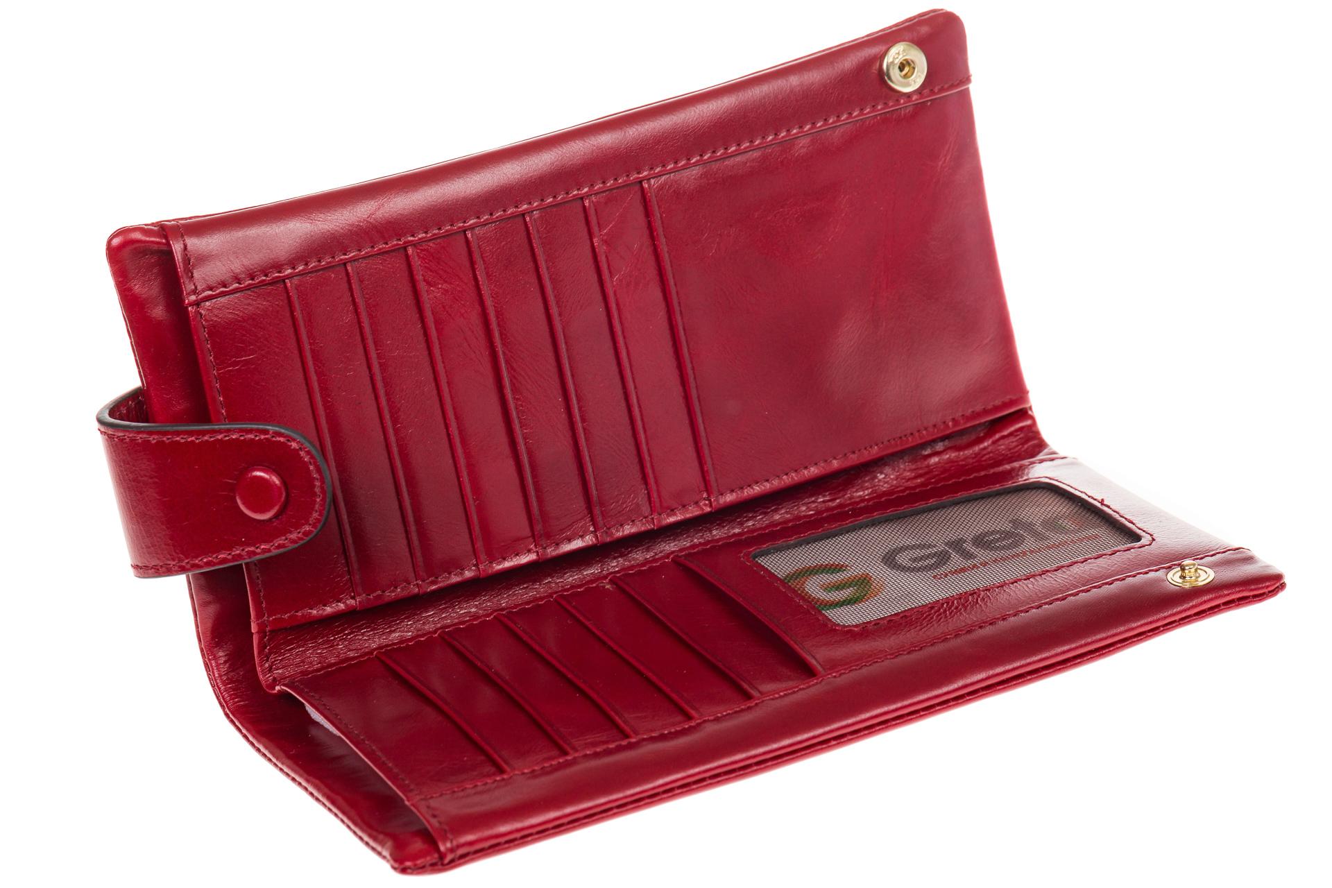 На фото 2 - Вертикальное портмоне красного цвета 6018