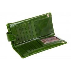 На фото 2 - Вертикальное портмоне зеленого цвета 6018
