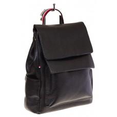 Купить оптом строгий женский рюкзак с двумя клапанами, цвет черный, фото