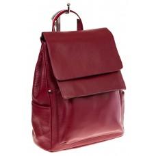 Купить оптом строгий женский рюкзак с двумя клапанами, цвет бордо, фото