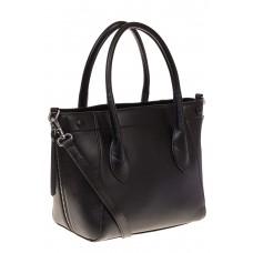 на фото Handbag из натуральной кожи черного цвета 6026MK5