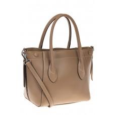 на фото Handbag из натуральной кожи бежевого цвета 6026MK5