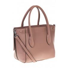 на фото Handbag из натуральной кожи цвета пудра 6026MK5