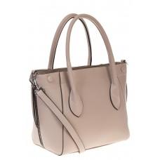 на фото Handbag из натуральной кожи молочного цвета 6026MK5