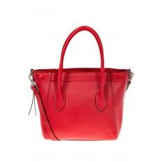На фото 2 - Handbag из натуральной кожи красного цвета 6026MK5