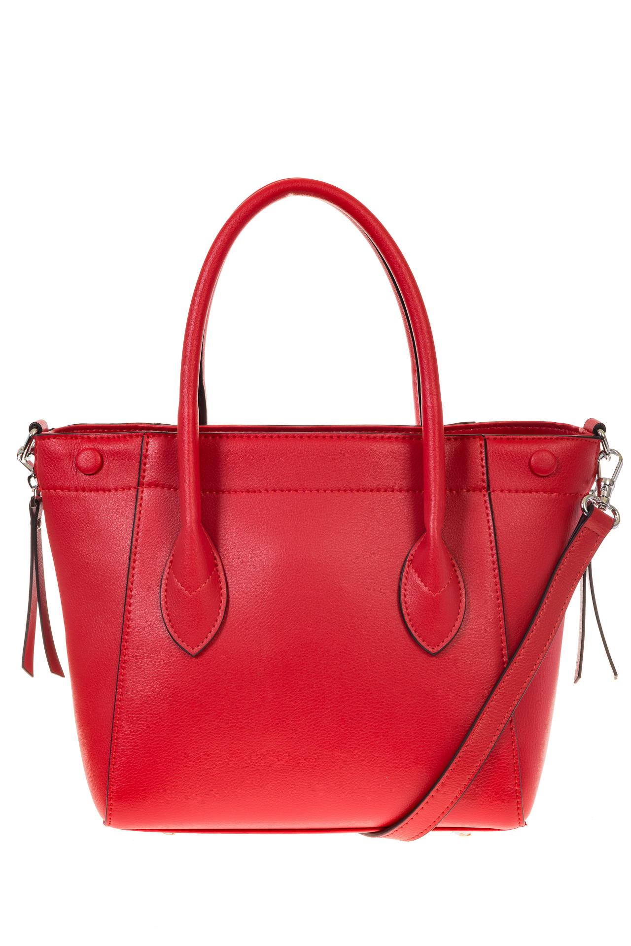 На фото 3 - Handbag из натуральной кожи красного цвета 6026MK5