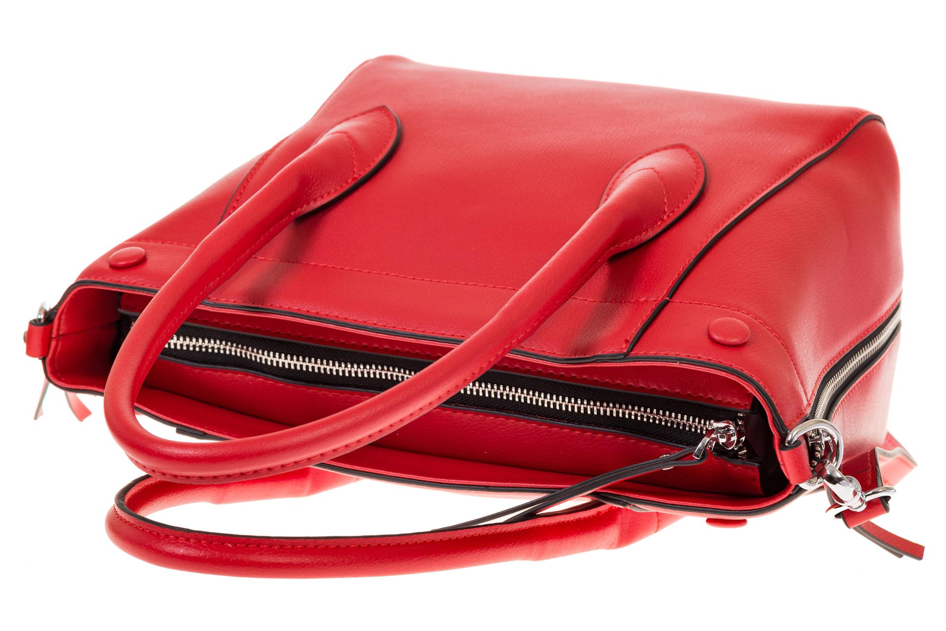 На фото 4 - Handbag из натуральной кожи красного цвета 6026MK5