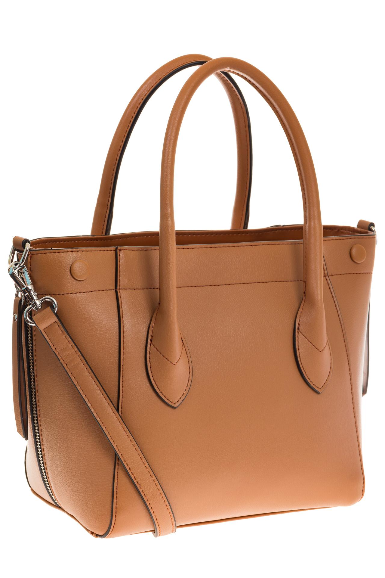 на фото Handbag из натуральной кожи рыжего цвета 6026MK5